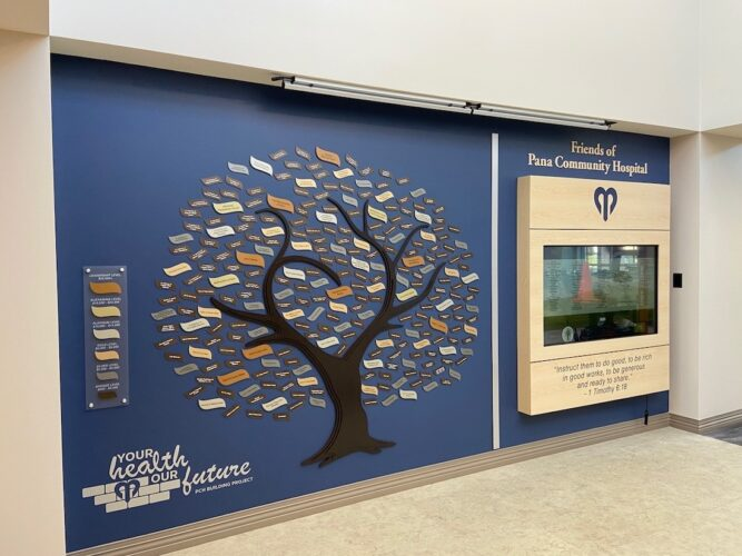 Pana Community Hospital Building Campaign Donor Recognition Wall